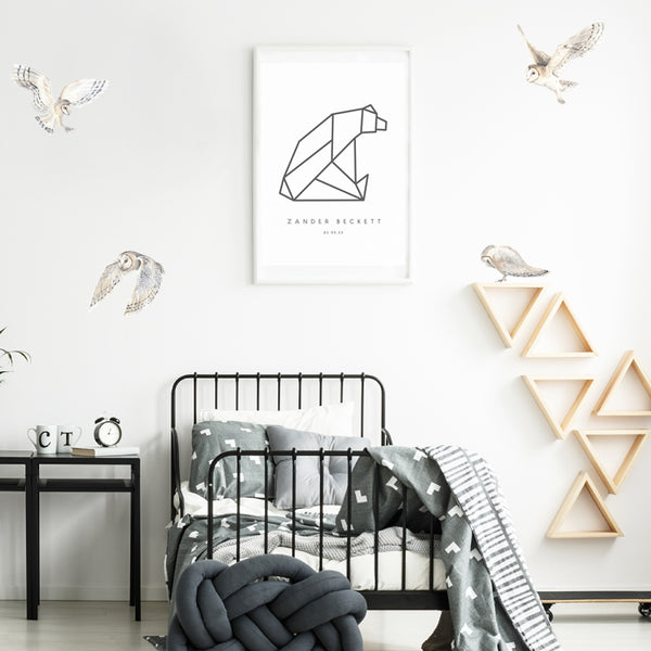 Watercolour Owls - Stickaroo Wall Decor