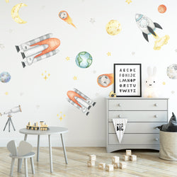 Watercolour Space - Stickaroo Wall Decor