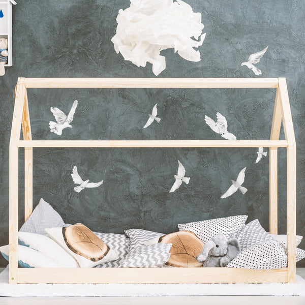 White Doves - Stickaroo Wall Decor