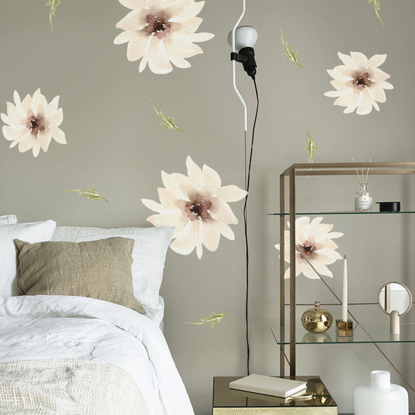 White Flowers - Stickaroo Wall Decor