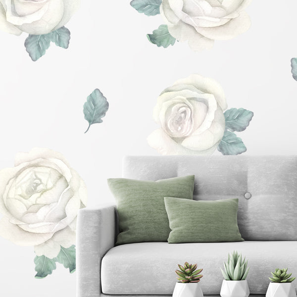 White Roses - Stickaroo Wall Decor
