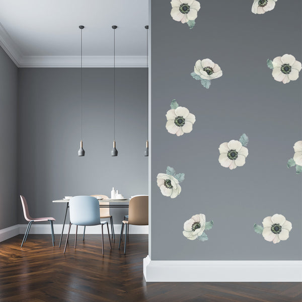 White Spring Flowers - Stickaroo Wall Decor