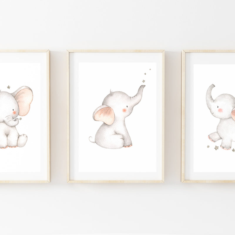 Goognight Elephants Print Set