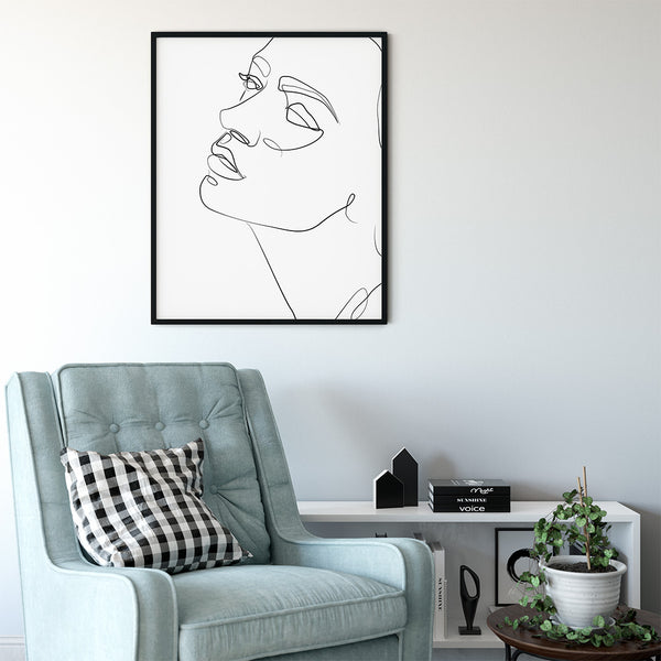 Outline Face Print - Stickaroo Wall Decor