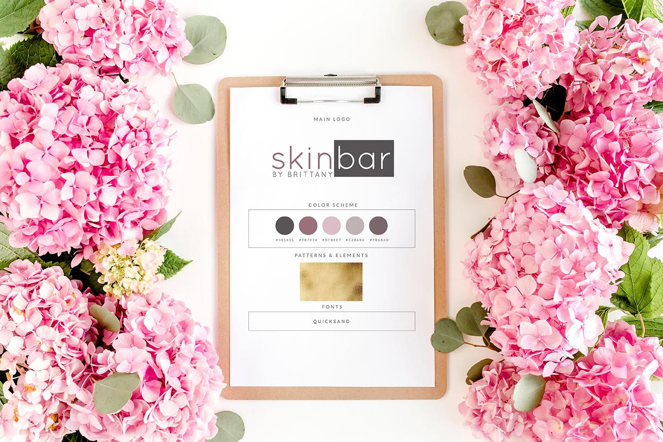 leanne and company skin bar brand design