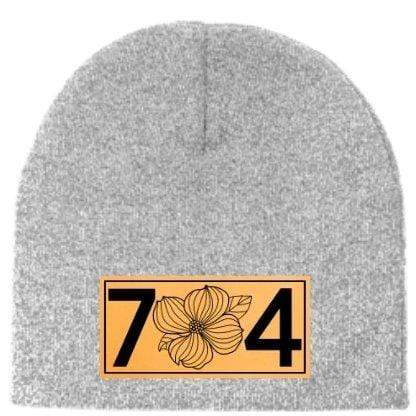 In The 704 Hat 704 Leather Patch Beanie