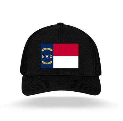 In The 704 Hat black North Carolina State Flag Trucker Snapback