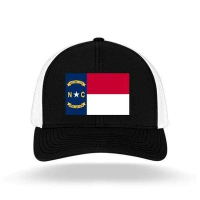 In The 704 Hat black/white North Carolina State Flag Trucker Snapback