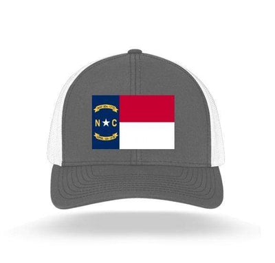 In The 704 Hat graphite North Carolina State Flag Trucker Snapback