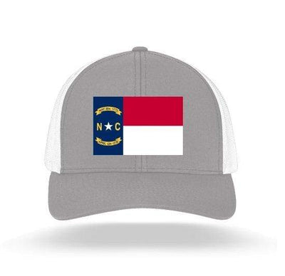 In The 704 Hat heather grey North Carolina State Flag Trucker Snapback