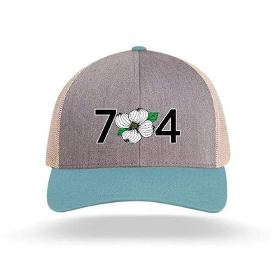In The 704 Hat heather grey/smoke blue 704 Trucker Snapback