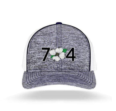 In The 704 Hat heather royal blue 704 Heather Trucker Snapback