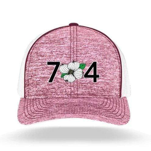 In The 704 Hat maroon 704 Heather Trucker Snapback