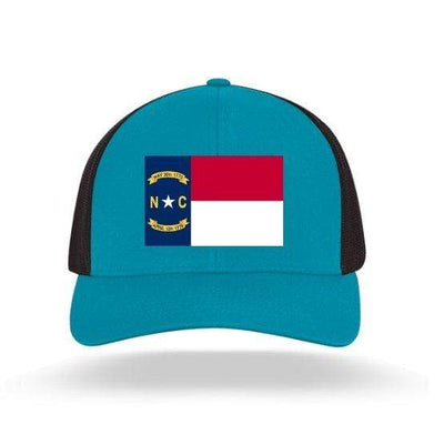 In The 704 Hat panther blue North Carolina State Flag Trucker Snapback