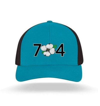 In The 704 Hat panther teal 704 Trucker Snapback