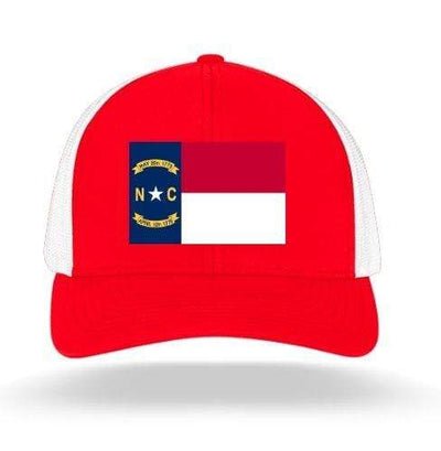 In The 704 Hat red North Carolina State Flag Trucker Snapback