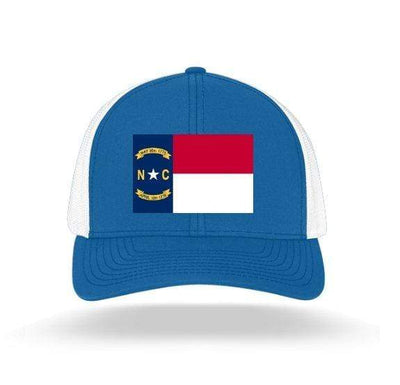 In The 704 Hat royal blue North Carolina State Flag Trucker Snapback