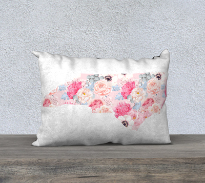 "Leanne & Co. 20"" x 14"" Pillow Case North Carolina Peonies Throw Pillow"