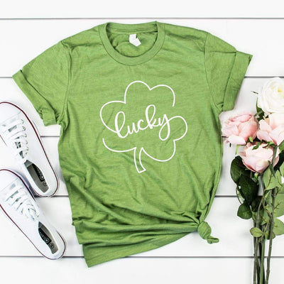 Leanne & Co. Apparel Lucky Clover St. Patrick's Day Short-Sleeve Unisex T-Shirt