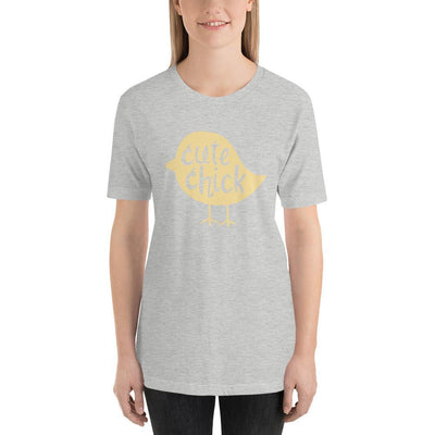 Leanne & Co. Athletic Heather / S Cute Chick Yellow Chick Short-Sleeve Unisex T-Shirt