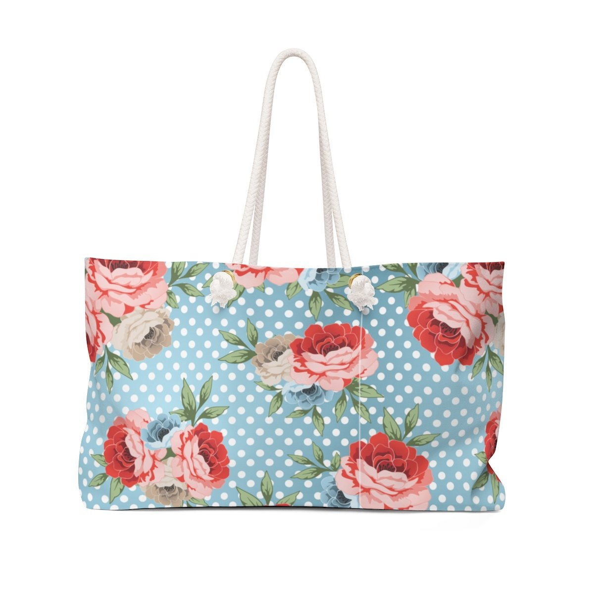 Leanne & Co. Bags 24x13 Polka Dot Roses Weekender Bag