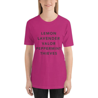 Leanne & Co. Berry / S Essential Oils Short-Sleeve Unisex T-Shirt