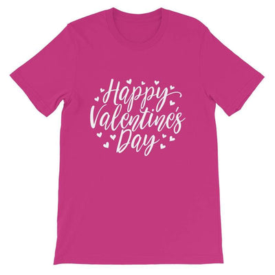 Leanne & Co. Berry / S Happy Valentine's Day Short-Sleeve Unisex T-Shirt