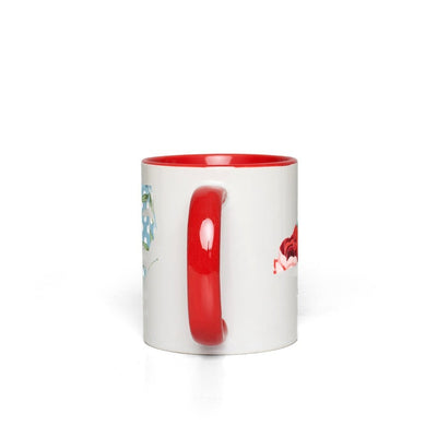 Leanne & Co. Coffee Mug White with Red Accents Pioneer Woman Inspired State Red Accent Mug