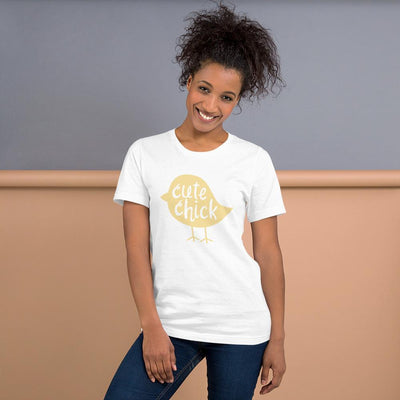 Leanne & Co. Cute Chick Yellow Chick Short-Sleeve Unisex T-Shirt