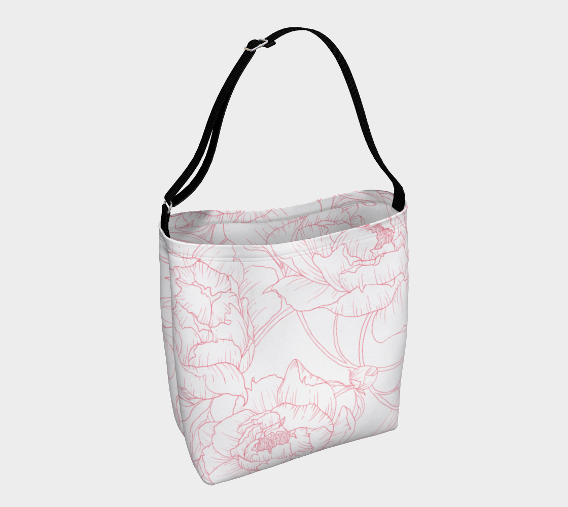 Leanne & Co. Day Tote Peony Outline Day Tote