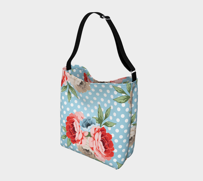 Leanne & Co. Day Tote Polka Dot Roses Day Tote