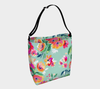 Leanne & Co. Day Tote Teal Flowers Day Tote