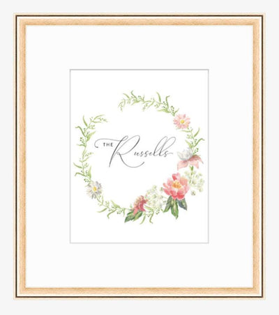 Leanne & Co. Digital Print 8x10 inches / Rosemont Rose Gold Peonies + Roses Personalized Wedding Print