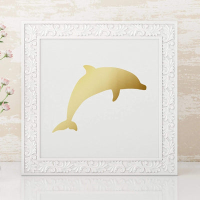 Leanne & Co. Digital Print Dolphin Metallic Foil Print