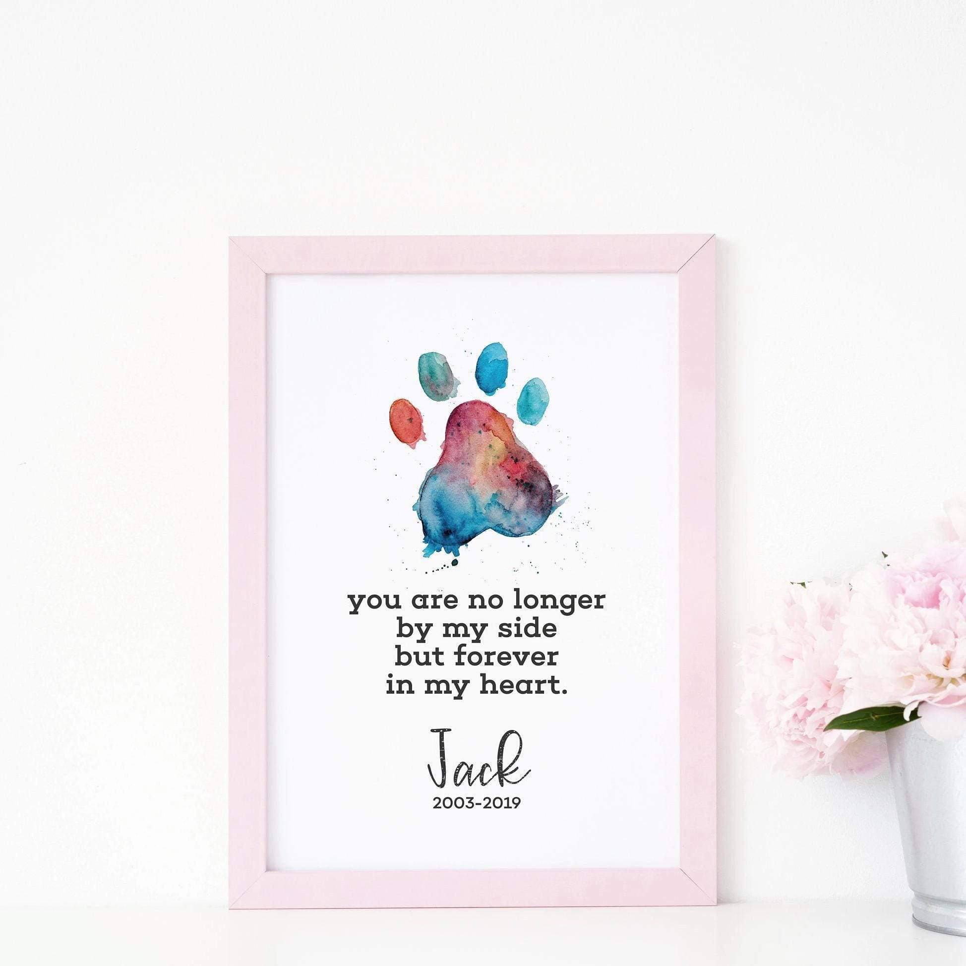 Leanne & Co. Digital Print Forever In My Heart Rainbow Bridge Pet Memorial Print