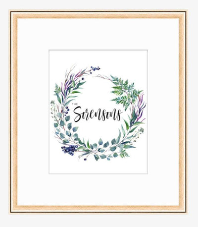 Leanne & Co. Digital Print Herbs + Foliage Personalized Wedding Print