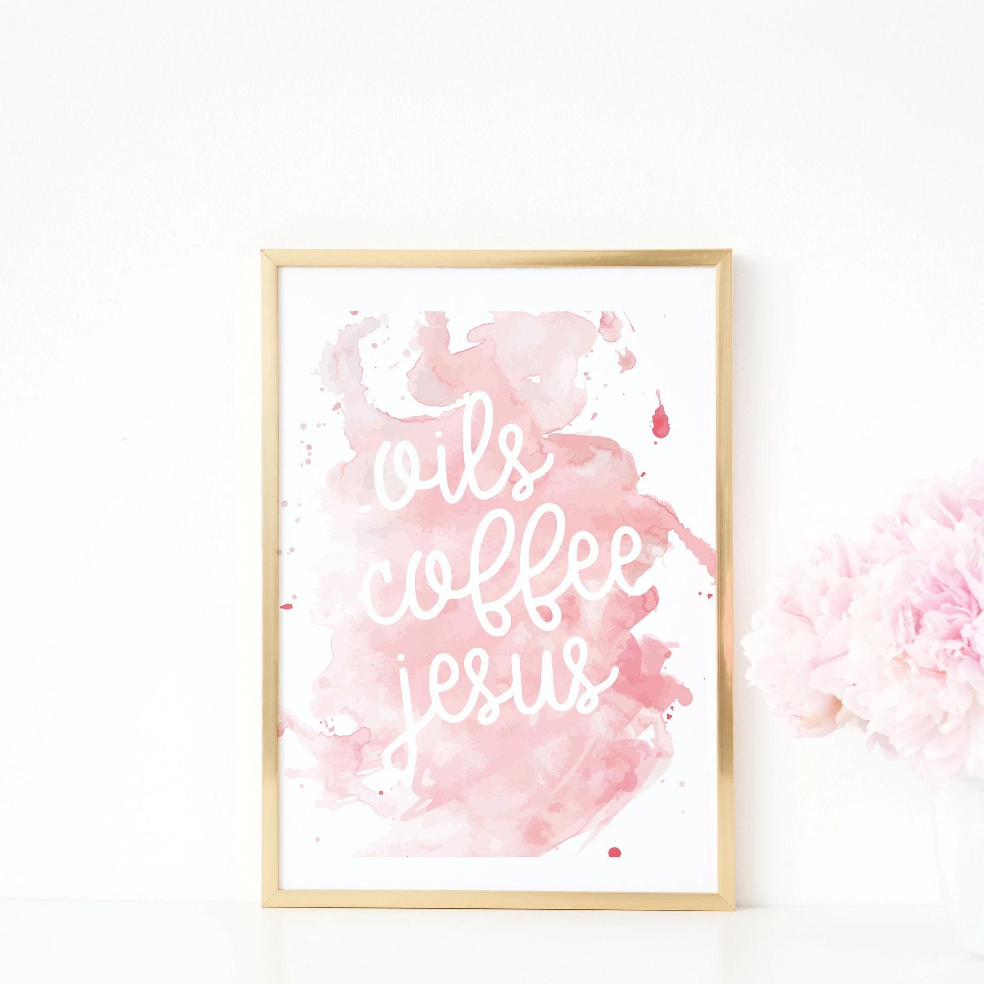 Leanne & Co. Digital Print Oils Coffee Jesus Wall Art