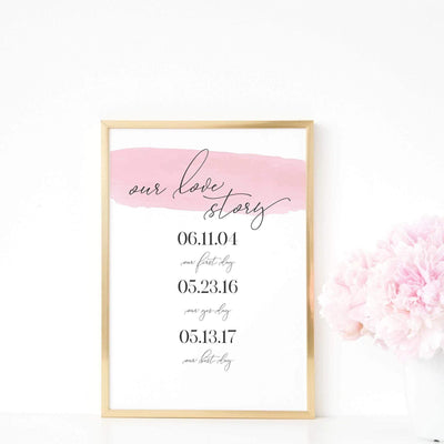 Leanne & Co. Digital Print Our Love Story Personalized Wedding Print