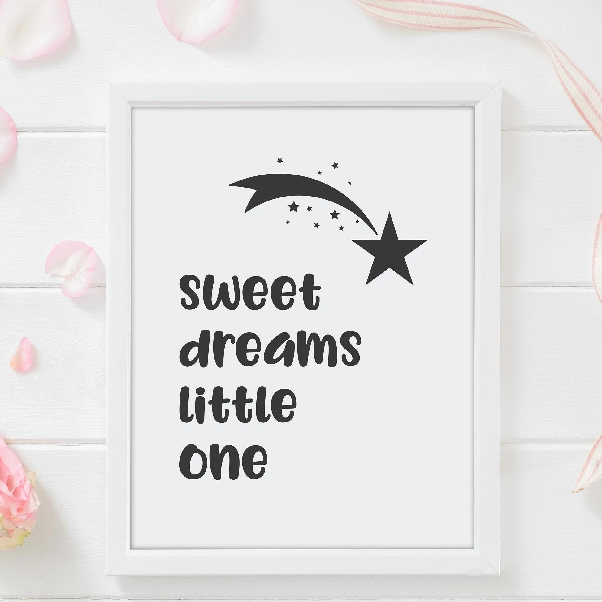 Leanne & Co. Digital Print Sweet Dreams Little One