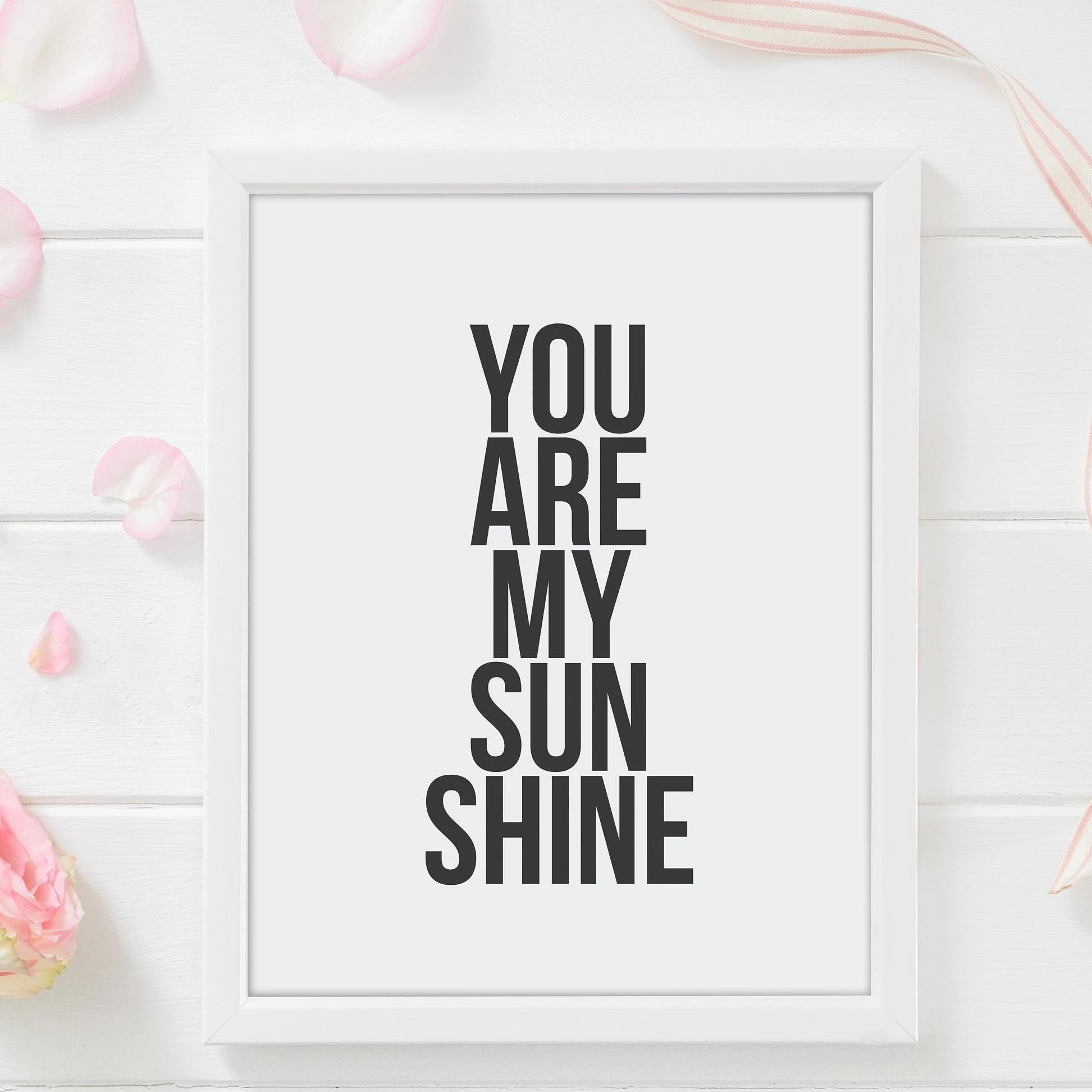 Leanne & Co. Digital Print You Are My Sunshine Nursery Print