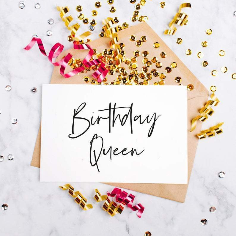 Leanne & Co. Greeting Card Birthday Queen Greeting Card