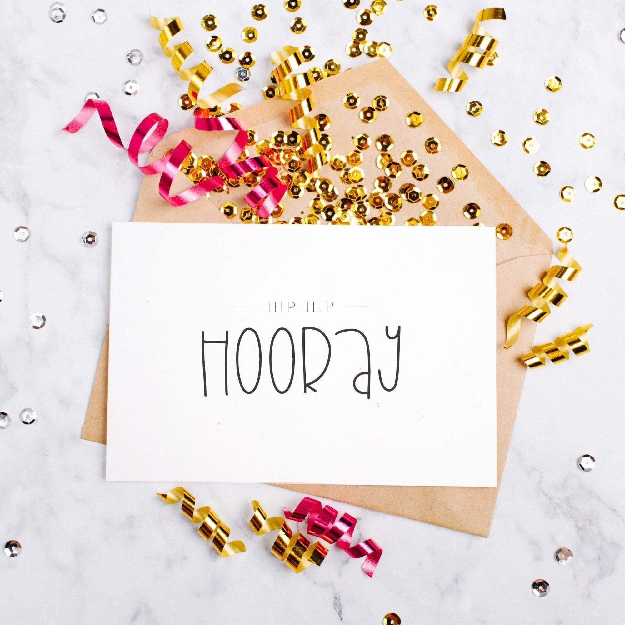 Leanne & Co. Greeting Card Celebration Hip Hip Hooray Card
