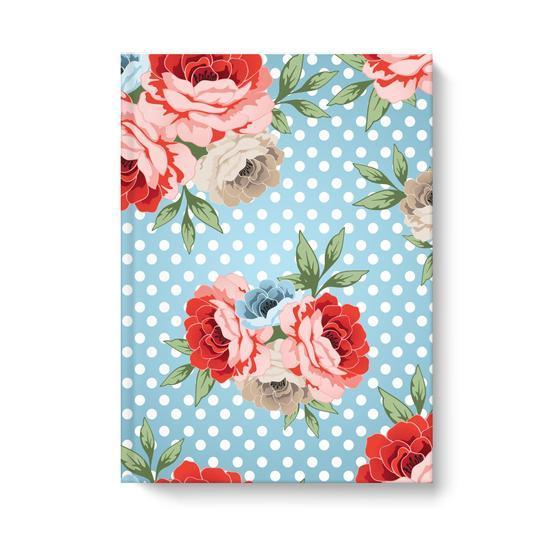 Leanne & Co. Hardcover Journal 6.25x8.25 inch Polka Dot Roses Hardcover Journal