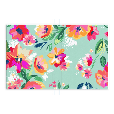Leanne & Co. Hardcover Journal 6.25x8.25 inch Teal Flowers Hardcover Journal