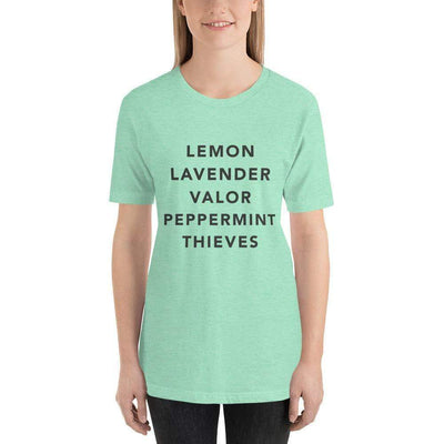 Leanne & Co. Heather Mint / S Essential Oils Short-Sleeve Unisex T-Shirt