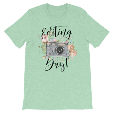 Leanne & Co. Heather Prism Mint / XS Editing Day Short-Sleeve Unisex T-Shirt