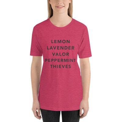 Leanne & Co. Heather Raspberry / S Essential Oils Short-Sleeve Unisex T-Shirt