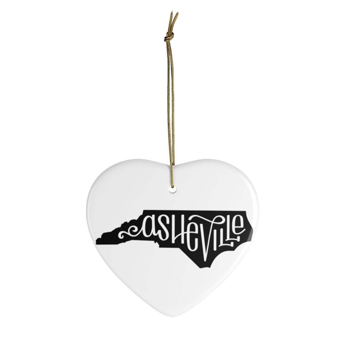 Leanne & Co. Home Decor Heart / One Size Asheville, NC Ceramic Heart Ornament