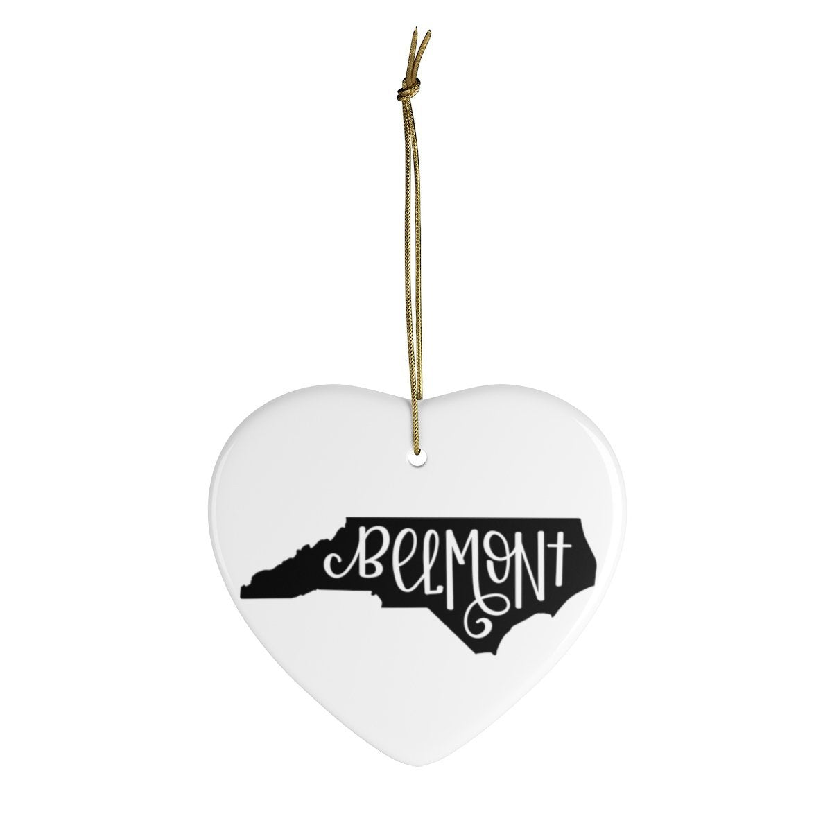 Leanne & Co. Home Decor Heart / One Size Belmont, NC Ceramic Ornament