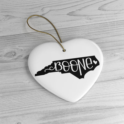 Leanne & Co. Home Decor Heart / One Size Boone, NC Ceramic Heart Ornament